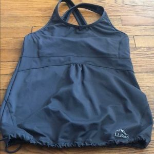 L.L Bean Workout Tank Top with built in sports bra